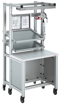 Portable Trolley And Work Benches Using Bosch Aluminium